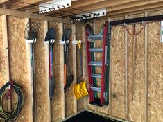 Garden Tool Shed, Garden Tool Storage, Yard Tool Storage Ideas, Outdoor Tool Storage, Furniture Grade Plywood, Diy Furniture Plans, Storage Shed Organization, Garage Storage, Shed Storage Shelves