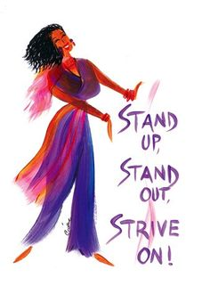 Stand Up, Stand Out, Strive On: Cidne Wallace Magnet