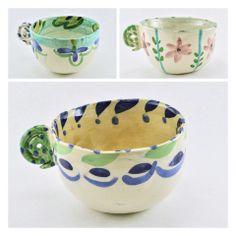 Taza Rulo — Copacabana Ceramic Cups, Ceramic Pottery, Sculpture Clay, Clay Creations, Glaze, Pasta Piedra, Mugs, Tableware, Bowls