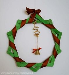 Christmas wreath using green sticks. Repinned by www.mygrowingtraditions.com