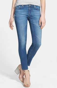 Women's AG 'The Legging' Ankle Jeans, Size 31 - Blue (18 Year) | 40% desligar