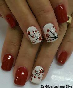Red Nail Designs, Pedicure Designs, French Nail Designs, Winter Nail Designs, Autumn Nails, Winter Nails, Spring Nails, Cute Pink Nails, Blue Nails