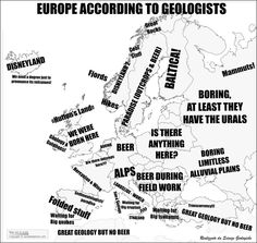 Europe according to geologists