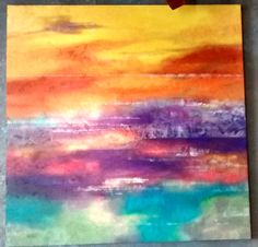 """Sunrise Exquisite – FOR SALE – 83"""" x 83"""" – Palette: Orange, Red, Turquoise, Hot Pink & White – No Frame – Substrate: Stretched Canvas – Medium: Oil, Wax & Mixed Media – Art Category: Pure Abstract – Call 414-837-9472 or contact Jeff@TimoGallery.com for pricing.  Original works of fine art crated by Contemporary Abstract Expressionist Painter Timo – aka Timothy Meyerring – More information about Timo and Timo Gallery can be accessed at their website by clicking on"""