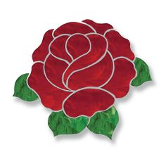 Mosaic Projects : PRE-CUT Glass - Red Rose
