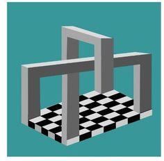 Onmogelijke blokken op een schaakbord.