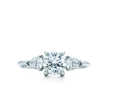 Tiffany & Co. | Engagement Rings | Round Brilliant With Pear-shaped Side Stones | United Kingdom