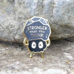 Cute Sticker, Pins Badge, Geeks, Pinterest Instagram, Little Presents, Stronger Than You Think, Jacket Pins, Howls Moving Castle, Cool Pins