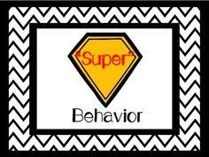 Super Hero Themed Behavior Chart (TpT)