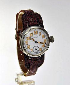 Original Rolex Solid Silver Wristwatch by Rolex of Geneva, Switzerland 1914