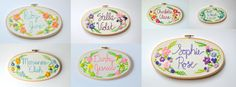 Personalized Baby Name Embroidery Hoop. Nursery Decor. by KimArt