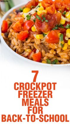 These 7 Crockpot Freezer Meals for Back-to-School are perfect for this busy time of year!