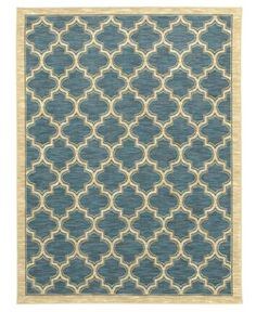"Shaw Living Area Rug, American Abstracts Collection 01400 Milazzo Blue 7'9"" x 10'3"" - Modern Rugs - Rugs - Macy's  $1199"
