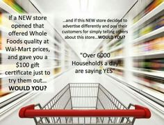 I'm looking for people to change stores. Simply order from home instead of going to the stores. Right now just $1 to join. Instead of paying more for Costco or Sam's Club card join my company and order from the private of your own home. Earn $100 in shopping does free just watching a few videos. I see this as a win/win. Sign up 2 preferred shoppers by March 31st you earn everything in the below photo. Pm me for more info. http://wellnesswithmissysue.com/