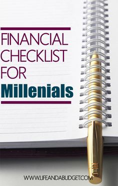 Regardless of whether you're in your 20's or 30's, you're ready to get your financial life in order and I'm here to help you. Here are 10 things that should be on every millennials financial checklist to ensure they reach financial freedom. Pin this, read