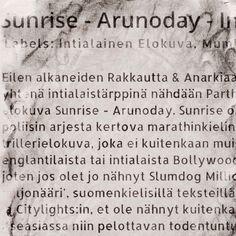 Sunrise - Arunoday -elokuva-arvio - Sunrise - Arunoday -movie review