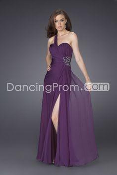 Charming Chiffon One-shoulder Floor-length Sleeveless A-Line Prom/Evening Dresses