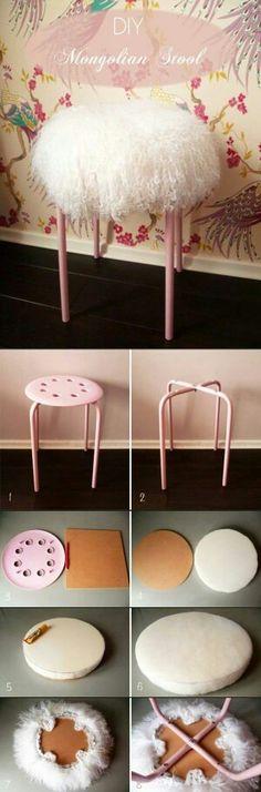 Tuto habillage chaise... ...