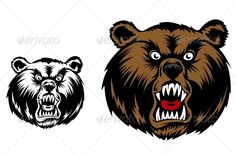 Angry Bear Mascot  #GraphicRiver         Head of angry bear for mascot design. Editable EPS8 (you can use any vector program) and JPEG files (use any graphic redeactor) are included  	 SPORTS  	                                            	 MASCOTS  	                                            	 MEDICINE  	                              	 FOOD  	                                            	 LABELS  	                                            	 WEDDING  	                      	 DESIGN ELEMENTS…