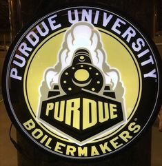 Purdue University Slimline Illuminated Wall Sign featuring the Boilermakers Secondary logo Purdue University, Wall Signs, 5 D, Man Cave, Dorm, Fans, Hardware, Logos, Gift