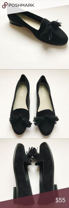 175f6942a8d Anne Klein Darcy Black Tassel Loafer Flats 9.5