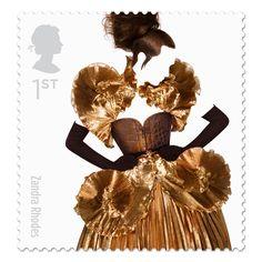 British Fashion Stamp by Johnson Banks & Sølve Sundsbø   Trendland: Fashion Blog & Trend Magazine