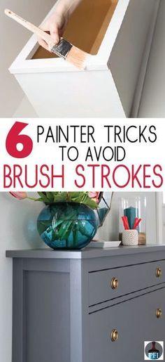 6 Tricks to Avoid Brush Strokes - Painted Furniture Ideas #refinishedfurniture