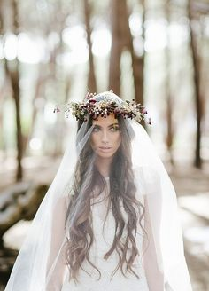 ☫ A Veiled Tale ☫ wedding, artistic and couture veil inspiration - woodland bride