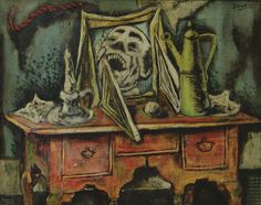 Karl Zerbe (Germany 1903-1972 US), Television,  oil/artistboard, 1946.