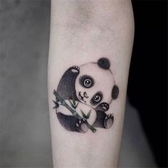 71 Cute Panda Tattoo Images - Wormhole Tattoo 丨 Tattoo Kits, Tattoo machines, Tattoo supplies Mini Tattoos, Girly Tattoos, Body Art Tattoos, White Tattoos, Word Tattoos, Small Animal Tattoos, Small Tattoos, Temporary Tattoos, Tattoos For Women
