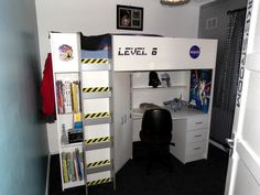 Create a space/Star Wars themed kids bedroom. (Click on image for full article).
