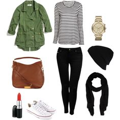 TRAVEL OUTFIT #1 by creativelovechild on Polyvore featuring Alexander Wang, Madewell, Jane Norman, Converse, MARC BY MARC JACOBS, Michael Kors, Faliero Sarti, River Island, MAC Cosmetics and traveloutfit blackpants blackbeanie whiteconverse casualoutfit laidbackstyle