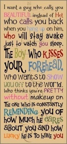 These are guidelines for finding Mr. Right