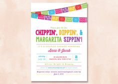 Hey, I found this really awesome Etsy listing at https://www.etsy.com/listing/184995318/fiesta-couples-shower-invitation-diy