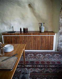 Modica (Ragusa). Sicilian house, dining room in italian style.