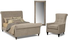 Bedroom Furniture - The Rochester Collection - Queen Bed