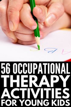 56 Occupational Therapy Activities for Kids   Whether your child has sensory processing challenges, struggles with fine motor, gross motor, and/or visual motor skills, needs help with handwriting, or needs core strengthening exercises, we have 56 fun learning activities that are perfect for kids with developmental delays like autism and sensory processing disorder. These pediatric OT ideas will not disappoint! #parenting #parenting101 #asd #autism #occupationaltherapy…