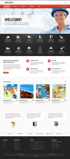 Template 46544 - Giance Construction  Responsive WordPress  Theme