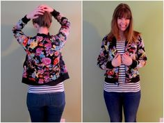 Floral Bomber Jacket by Sally (thequirkypeach) | Project | Sewing / Outerwear | Shirts, Tanks, & Tops | Kollabora
