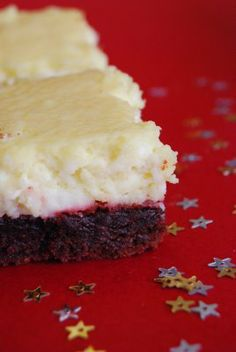 Red Velvet Cheesecake Bars. I posted these for you Lisa Sharp