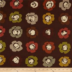 Leafhaven Blossom Espresso from @fabricdotcom  Designed by Michele D'Amore for Benartex, this cotton print fabric is perfect for quilting, apparel and home decor accents. Colors include brown, grey, green, cranberry, brick and cream.
