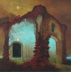 A arte obscura de Zdzislaw Beksinski Arte Obscura, Illustration Art, Illustrations, Character Illustration, Arte Horror, Art Graphique, Fine Art, Surreal Art, Surreal Portraits