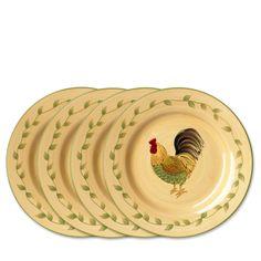 Pfaltzgraff Napoli Rooster Salad Plates, Set of 4 #Pfaltzgraff