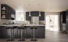 Roosevelt Black (Semi-Custom) - Pre-Assembled Kitchen Cabinets - Kitchen Cabinets