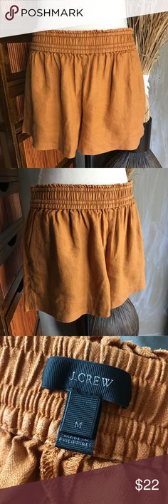 "J. CREW LINEN RUST COLOR SHORTS Size Medium Great Condition 100% Linen Size M Elastic waistband  Two Pocket  Length 12"" J. CREW LINEN RUST COLOR SHORTS Size Medium J. Crew Shorts"