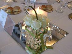Con fiori e candele