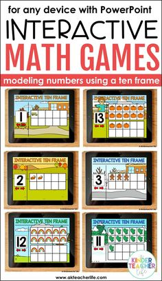 Interactive math game for primary students using ten frames! Students model the number by clicking on each square. For numbers 1 - 30. Perfect for building number sense and developing visual images for each number!