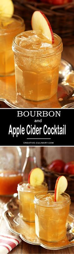 This Bourbon and Apple Cider Cocktail is the perfect Fall libation; plus it's so easy and delicious! via @creativculinary