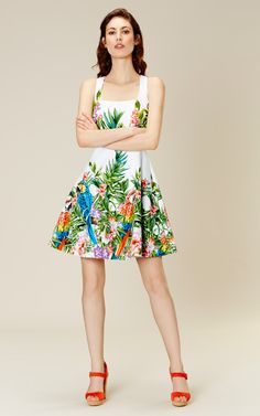 f185626813 Karen Millen Botanical-print cotton dress Dress Outfits