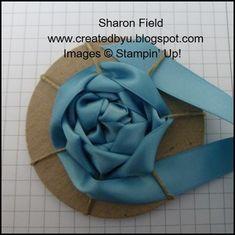 NEW {great} Ribbon Rosette tutorial. #DIY flower. #DIY